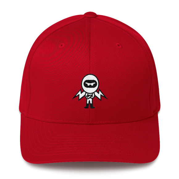 Deviant Coin / DEV BW LB Fit Cap-Red- Crypto & Proud