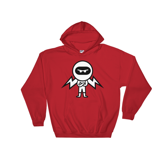 Deviant Coin / DEV BW LB Hoodie-Red- Crypto & Proud