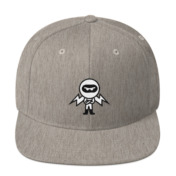 Deviant Coin / DEV BW LB Snapback Hat-Heather Grey- Crypto & Proud