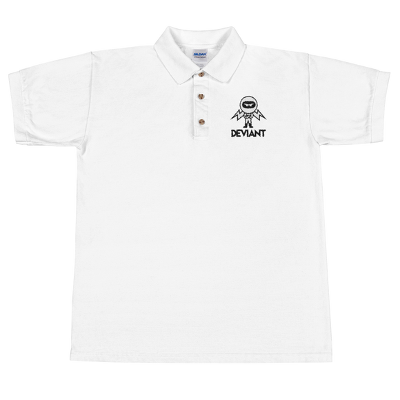 Deviant Coin / DEV BWL Polo-White- Crypto & Proud