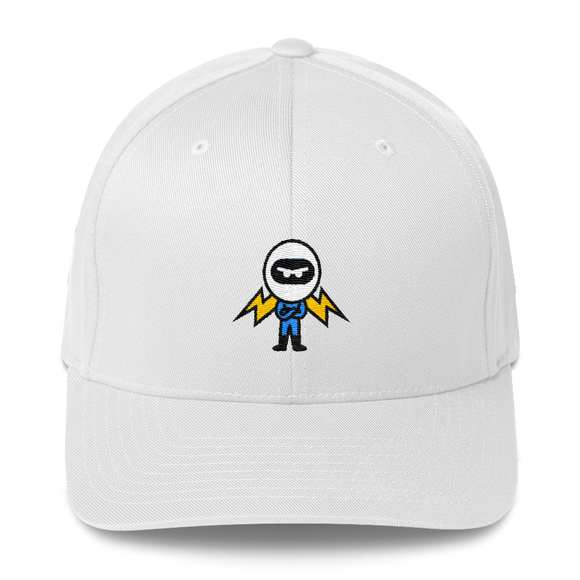 Deviant Coin / DEV C LB Fit Cap-White- Crypto & Proud