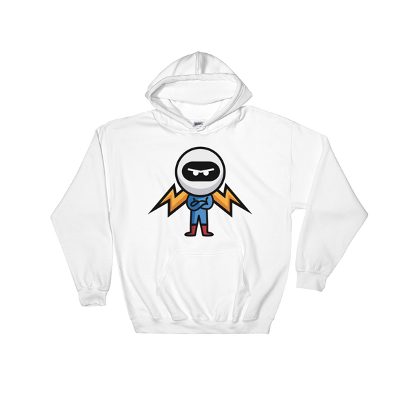 Deviant Coin / DEV C LB Hoodie-White- Crypto & Proud