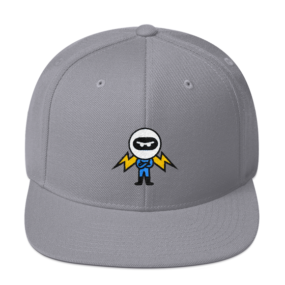 Deviant Coin / DEV C LB Snapback Hat-Silver- Crypto & Proud