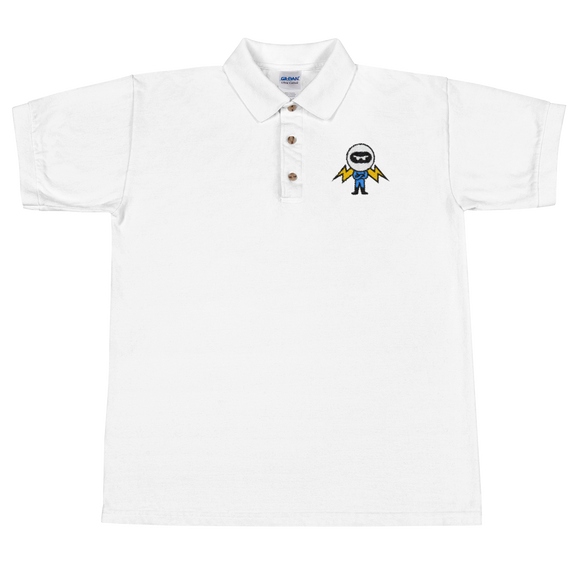 Deviant Coin / DEV C Polo-White- Crypto & Proud