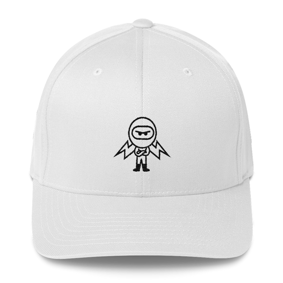 Deviant Coin / DEV OB LB Fit Cap-White- Crypto & Proud