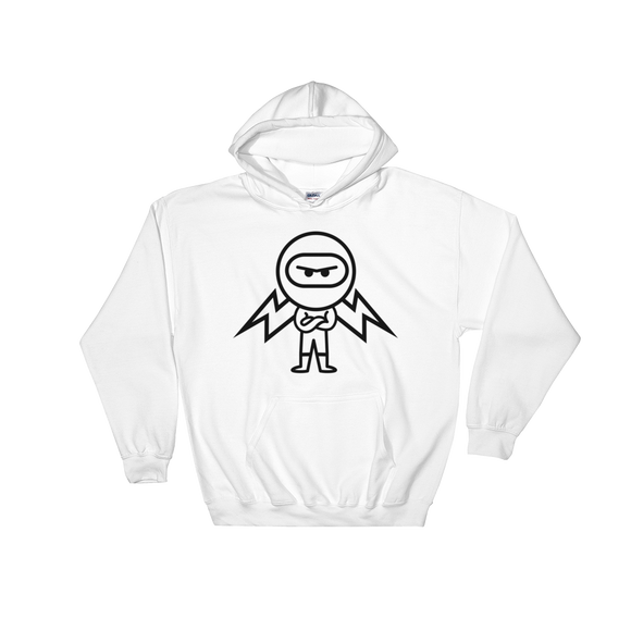 Deviant Coin / DEV OB LB Hoodie-White- Crypto & Proud