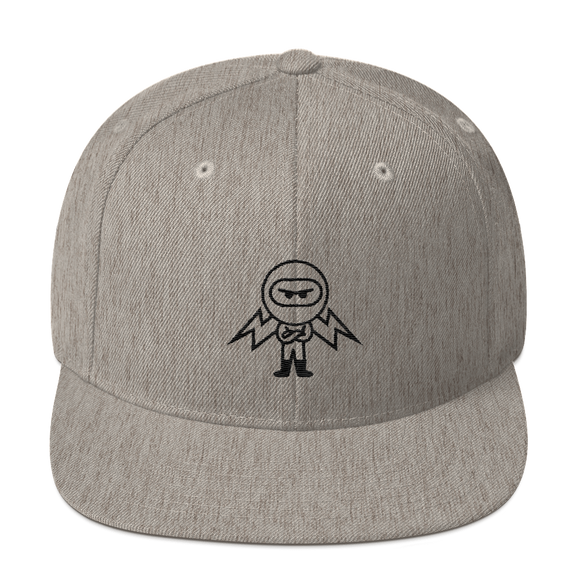 Deviant Coin / DEV OB LB Snapback Hat-Heather Grey- Crypto & Proud