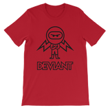 Deviant Coin / DEV OBL T-Shirt Premium-Red- Crypto & Proud