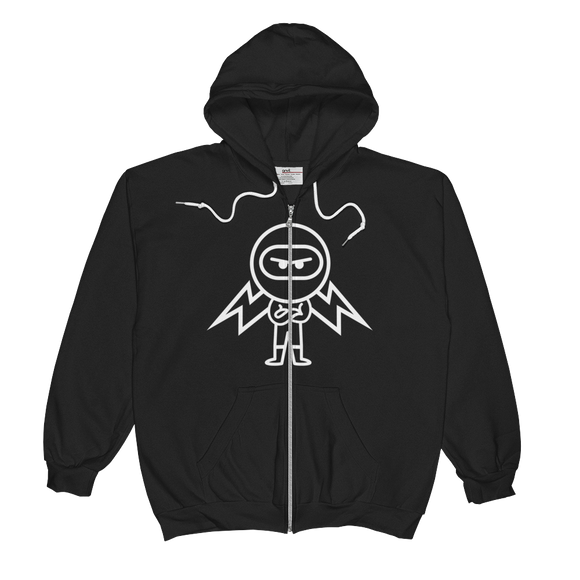 Deviant Coin / DEV OW LW Zip Hoodie-Crypto & Proud