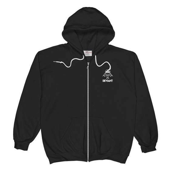 Deviant Coin / DEV SWBL Zip Hoodie-Crypto & Proud