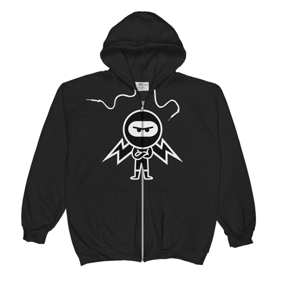 Deviant Coin / DEV WB LW Zip Hoodie   - Crypto & Proud