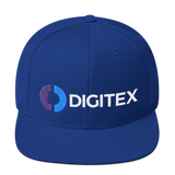 Digitex / DGTX CWLH Snapback Hat-Royal Blue- Crypto & Proud