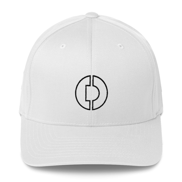 Digitex / DGTX OB LB Fit Cap-White- Crypto & Proud