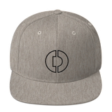 Digitex / DGTX OB LB Snapback Hat-Heather Grey- Crypto & Proud