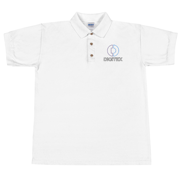 Digitex / DGTX OCL Polo-White- Crypto & Proud