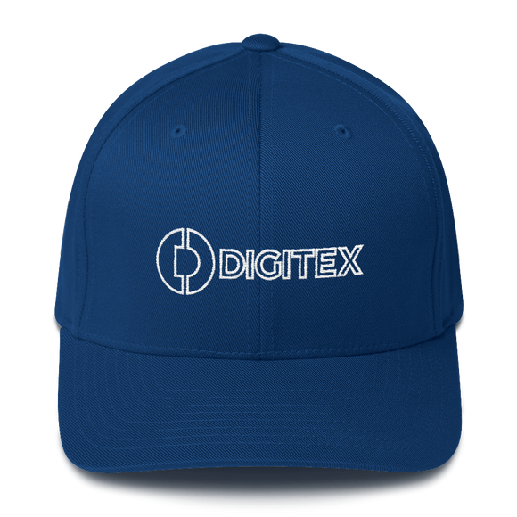 Digitex / DGTX OWLH Fit Cap-Royal Blue- Crypto & Proud
