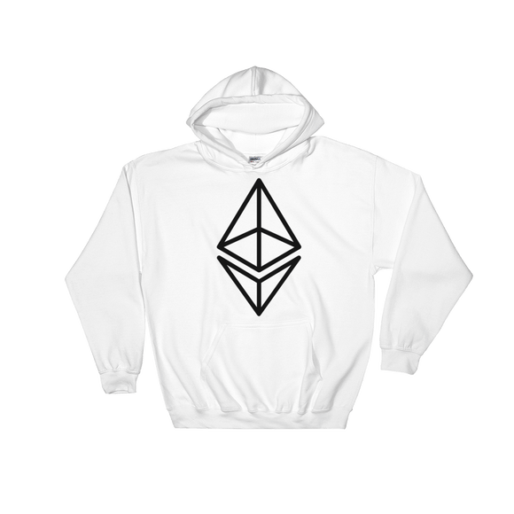 Ethereum / ETH OB Heavy Blend Hoodie-White- Crypto & Proud
