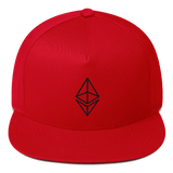 Ethereum / ETH OB Snapback Hat-Red- Crypto & Proud