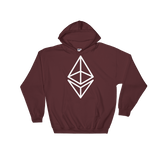 Ethereum/ ETH OW Heavy Blend Hoodie-Maroon- Crypto & Proud