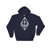 Ethereum/ ETH OW Heavy Blend Hoodie-Navy- Crypto & Proud