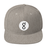 Golem / GNT RB Snapback Wool Blend Hat-Heather Grey- Crypto & Proud