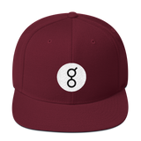 Golem / GNT RB Snapback Wool Blend Hat-Maroon- Crypto & Proud