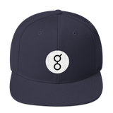 Golem / GNT RB Snapback Wool Blend Hat-Navy- Crypto & Proud