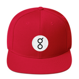 Golem / GNT RB Snapback Wool Blend Hat-Red- Crypto & Proud