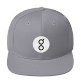 Golem / GNT RB Snapback Wool Blend Hat-Silver- Crypto & Proud
