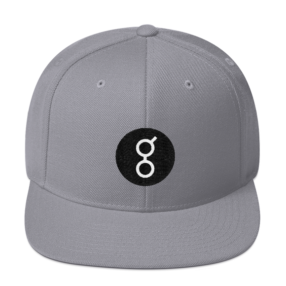 Golem / GNT RW Snapback Wool Blend Hat-Silver- Crypto & Proud
