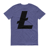 Litecoin / LTC B T-Shirt Premium-Heather Blue- Crypto & Proud