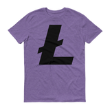 Litecoin / LTC B T-Shirt Premium-Heather Purple- Crypto & Proud