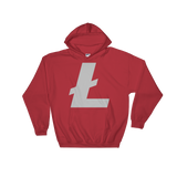 Litecoin / LTC C Heavy Blend Hoodie-Red- Crypto & Proud