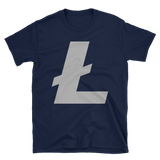 Litecoin / LTC C Softstyle T-Shirt-Navy- Crypto & Proud