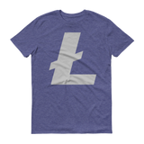 Litecoin / LTC C T-Shirt Premium-Heather Blue- Crypto & Proud