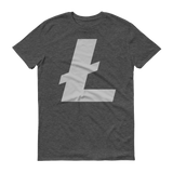 Litecoin / LTC C T-Shirt Premium-Heather Dark Grey- Crypto & Proud