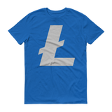 Litecoin / LTC C T-Shirt Premium-Royal Blue- Crypto & Proud