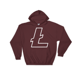 Litecoin / LTC OW Heavy Blend Hoodie-Maroon- Crypto & Proud