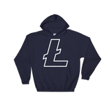 Litecoin / LTC OW Heavy Blend Hoodie-Navy- Crypto & Proud