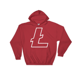 Litecoin / LTC OW Heavy Blend Hoodie-Red- Crypto & Proud