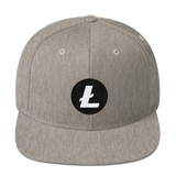 Litecoin / LTC RW Snapback Wool Blend Hat-Heather Grey- Crypto & Proud
