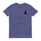 Litecoin / LTC SB T-Shirt Premium-Heather Blue- Crypto & Proud