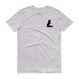 Litecoin / LTC SB T-Shirt Premium-Heather Grey- Crypto & Proud