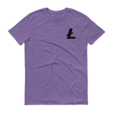 Litecoin / LTC SB T-Shirt Premium-Heather Purple- Crypto & Proud