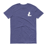 Litecoin / LTC SW T-Shirt Premium-Heather Blue- Crypto & Proud