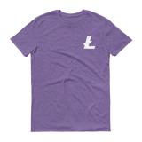 Litecoin / LTC SW T-Shirt Premium-Heather Purple- Crypto & Proud