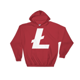 Litecoin / LTC W Heavy Blend Hoodie-Red- Crypto & Proud