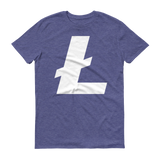 Litecoin / LTC W T-Shirt Premium-Heather Blue- Crypto & Proud