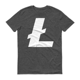 Litecoin / LTC W T-Shirt Premium-Heather Dark Grey- Crypto & Proud