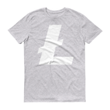 Litecoin / LTC W T-Shirt Premium-Heather Grey- Crypto & Proud